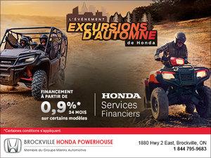 L'événement Excursions d'automne de Honda