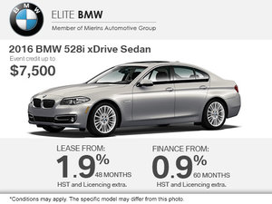 Get the 2016 BMW 528i xDrive Today!