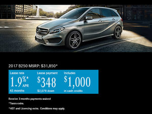 Save Big on the 2017 Mercedes-Benz B 250 Today!