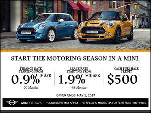 MINI's Monthly Sales Event!