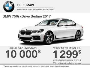 Obtenez la BMW 750i xDrive Berline 2017!