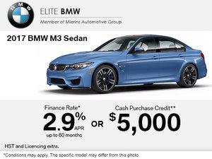 Save on the 2017 BMW M3 Sedan Today