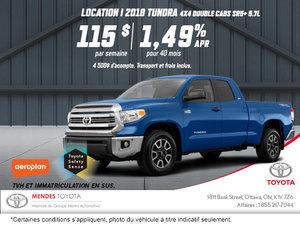 Obtenez la Toyota Tundra 2018