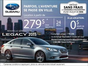 Subaru Legacy 2015 en location à compter de 279$ par mois