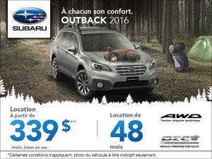 Louez le Subaru Outback 2016 aujourd'hui!