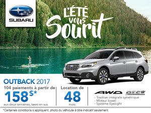 Achetez le Subaru Outback 2017 aujourd'hui!