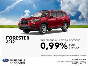 Procurez-vous le Subaru Forester 2019!