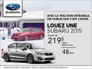 On oublie que c'est l'hiver avec Subaru!