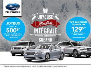 C'est l'événement de vente mensuelle chez Subaru!