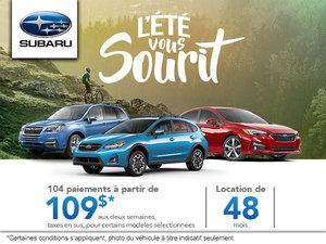 L'été vous sourit chez Subaru!