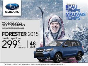 Subaru Forester en location à 299$ par mois