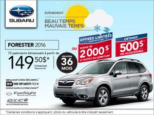 La Subaru Forester 2016 en location à  149.50 $/ bimensuel