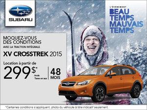 Subaru XV Crosstrek 2015 en location mensuelle à partir de 299$