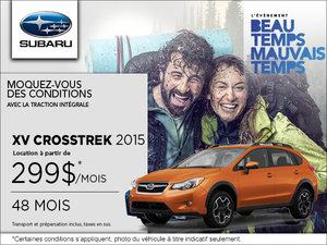 Louez le Subaru XV Crosstrek 2015 à partir de 299$ par mois