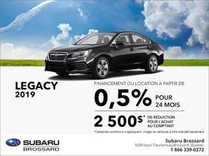 Procurez-vous la Subaru Legacy 2019!
