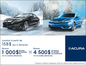 Vente mensuelle chez Acura!