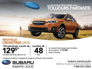 Le Subaru Crosstrek 2018 en rabais!