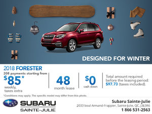 Get the 2018 Subaru Forester Today!