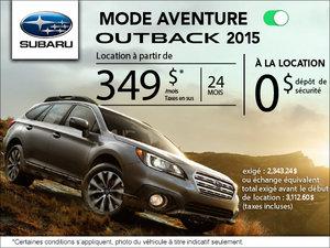 Louez le Subaru Outback 2015 à partir de 349$ par mois