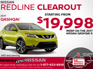 Get the 2017 Nissan Qashqai Today!