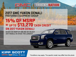 Save Big on the 2017 GMC Yukon!