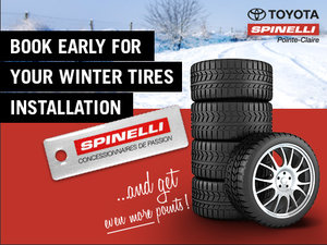 Get your winter tires installed today