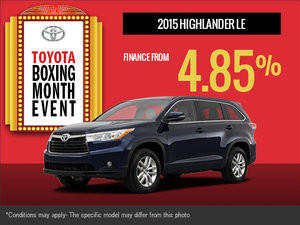 Find the new 2015 Toyota Highlander today!