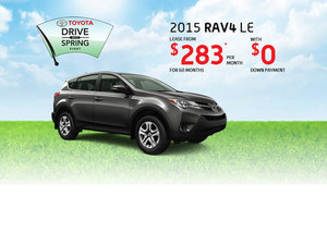 Drive the 2015 Toyota RAV4 for as low as $283 per month