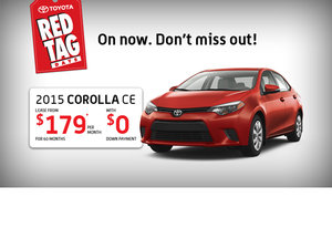 Drive The all-new 2015 Toyota Corolla starting from $179 per month