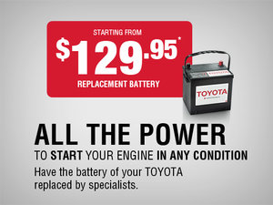 Have the battery of your Toyota replaced by specialists