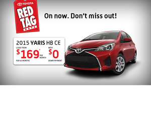 Drive The all-new 2015 Toyota Yaris starting from $169 per month