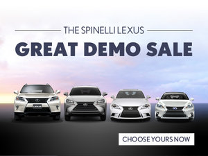 The Spinelli Lexus Great Demo Sale