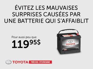 Pièces d'origine Toyota - Batterie à partir de 119,95$