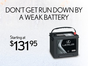 Lexus Genuine Parts - Battery starting at $131,95