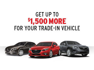 Get up to $1,500 more for your trade-in vehicle