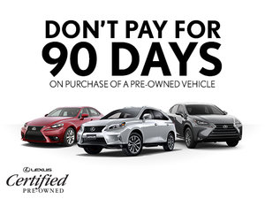 No Payment for 90 Days on our Pre-Owned Vehicles