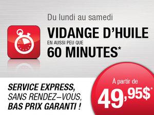 Service Express à partir de 49,95$
