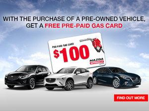 Get a $100 Pre-Paid Gas Card