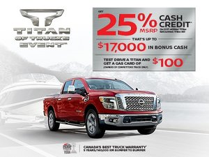 New Nissan Titan Deal in Montreal