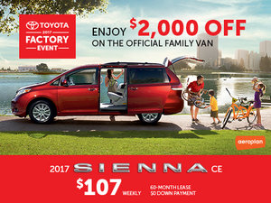 New Toyota Sienna Deals in Montreal