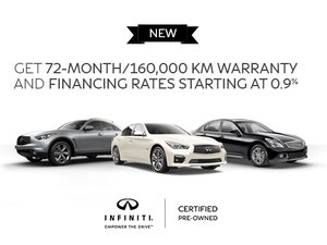 Infiniti Certified Pre-Owned Vehicle Promotion