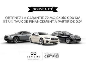 Promotion véhicules d'occasion certifiés Infiniti