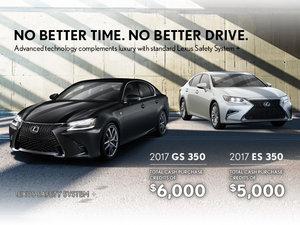 2017 Lexus GS 350 and ES 350 Promotion