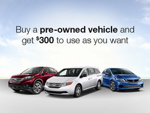 Honda Pre-Owned Vehicle Promotion