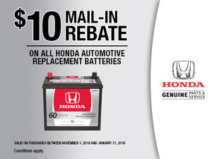 Have the battery of your Honda replaced by specialists