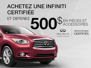 Promotion véhicules d'occasion certifié Infiniti