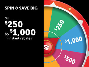 Spin and Save Sales Event