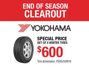 Yokohama Winter Tires Promotion for Nissan Sentra