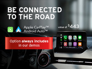 Apple Carplay and Android Auto included with our Demos