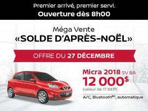 Grande Vente Boxing Week - Offre Nissan Micra